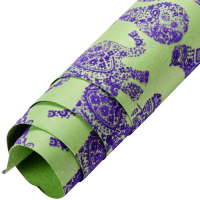 Velvet Fruit / Animal Wrapping Paper - Green / Purple