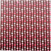 Abacus Greeting Card - Chocolate / Multi Pink