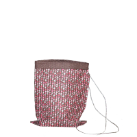 Abacus Crushed Bag - Small - Chocolate / Multi Pink