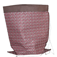 Abacus Crushed Bag - Medium - Chocolate / Multi Pink