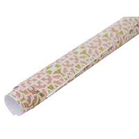 Dot Wrapping Paper - Green / Rust / White
