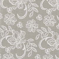 Lace Greeting Card - Putty / Ivory
