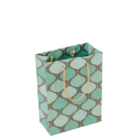 Pendulum Gift Bag - Small - Grey / Turquoise / Gold