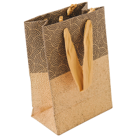 Spiral Embossed Gift Bag - Gold