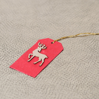 Deer Tag (set of 6) - Red