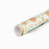 Pomegranate Wrapping Paper - Teal / Gold