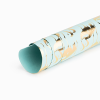 Flamingo Wrapping Paper - Teal / Gold