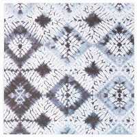 Shibori Greeting Card - Diamond - Indigo