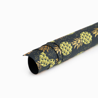 Pineapple Sparkle Wrapping Paper - Black Multi