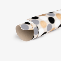Graphic Spots Wrapping Paper - Grey / Gold / Black