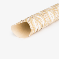 Wallpaper Wrapping Paper - Beige / Gold / White