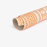 Triangle Wrapping Paper - Cement / Orange / White