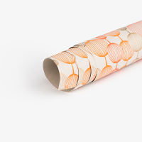 Lantern Wrapping Paper - Orange / Gold