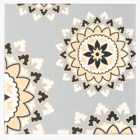 Mandala Greeting Card - Grey / Gold / Black