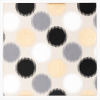 Graphic Spots Greeting Card - Grey / Gold / Black