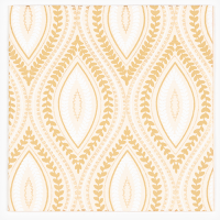 Wallpaper Greeting Card - Beige / Gold / White