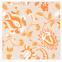 Pomegranate Flower Greeting Card - Cement / Orange / White