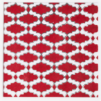 Array Greeting Card - Red / Silver / White