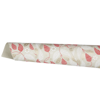 Christmas Leaves Wrapping Paper - Natural / Red / White