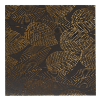 Foil Leaves Greeting Card - Black / Gold