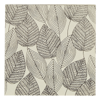 Foil Leaves Greeting Card - Ivory / Silver