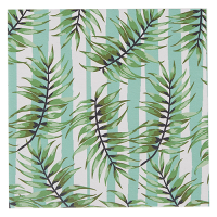 Striped Fern Greeting Card - White / Green / Aqua