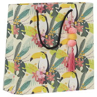 Toucan Pompom Gift Bag - Multicolour