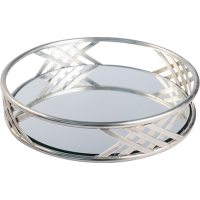 Art Deco Round Tray - Pewter