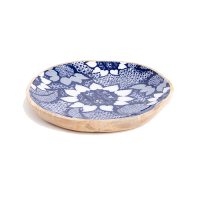 Sunflower Platter - Medium - Blue / White