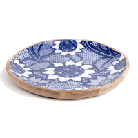 Sunflower Platter - Large - Blue / White