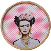New Frida Round Tray - Pastel - Multicolour
