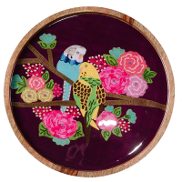 Purple Budgie Tray - Multicolour
