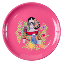 Frida Tray - Two Parrots - Fuchsia Multicolour