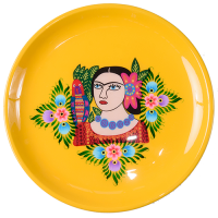 Frida Tray - Single Parrot - Yellow Multicolour