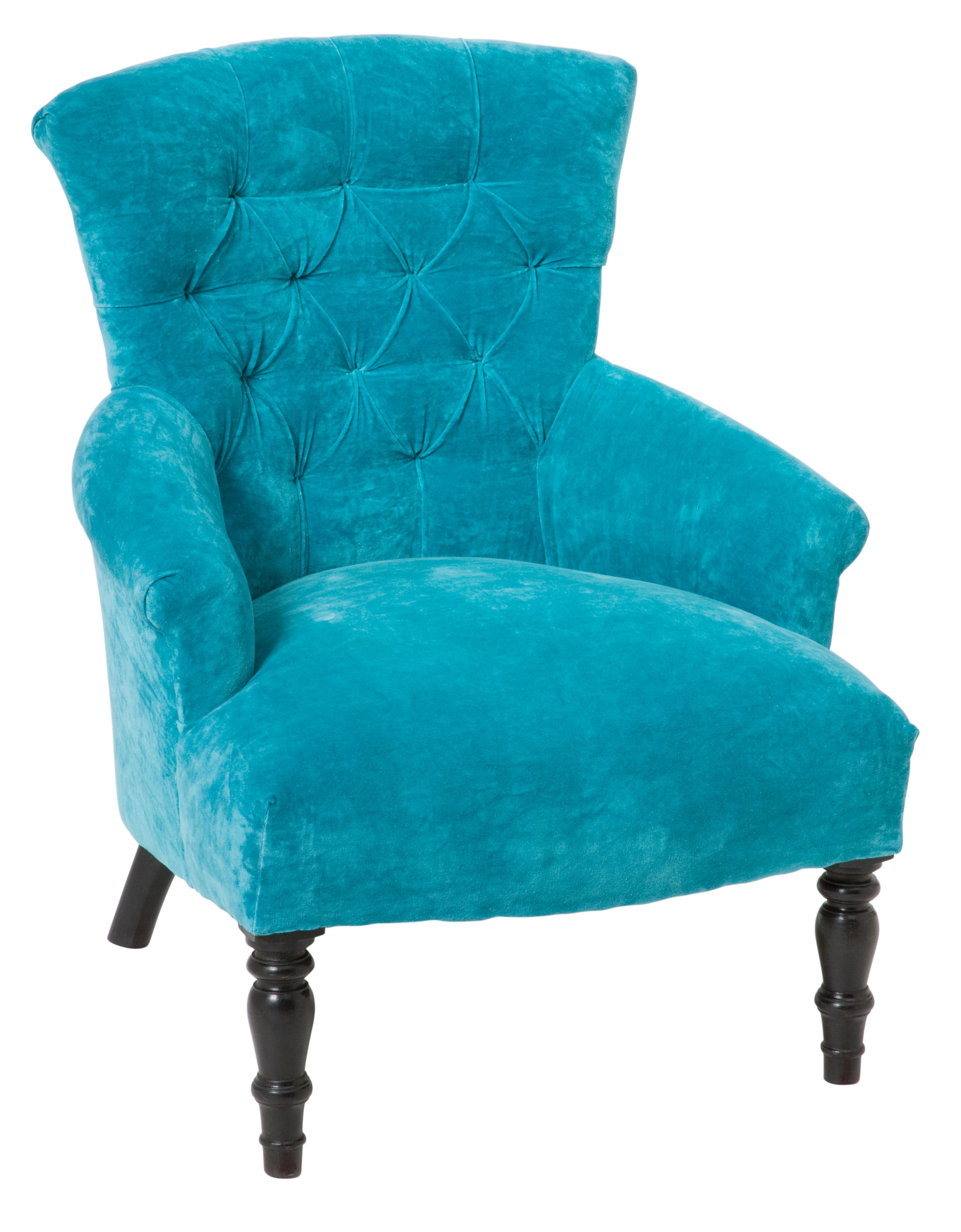 Ruby Star Traders Classic Armchair Velvet Turquoise