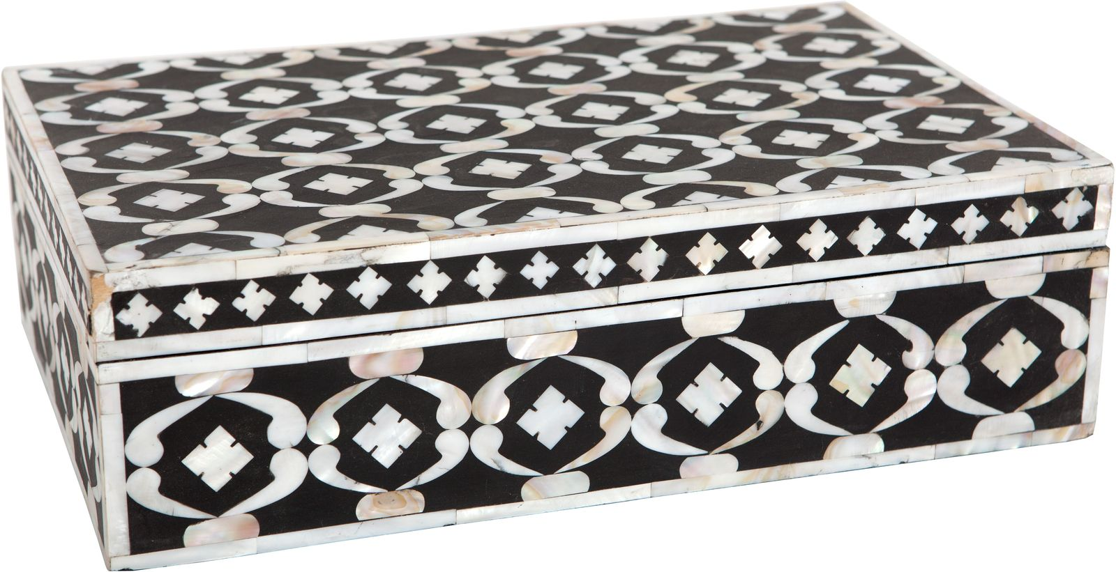 Ruby Star Traders Mother Of Pearl Inlay Box Black